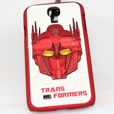 Populaire PC Back Shell Case met Transformers patroon voor Samsung Galaxy S4 i9500 / i9505 - Wit en rood