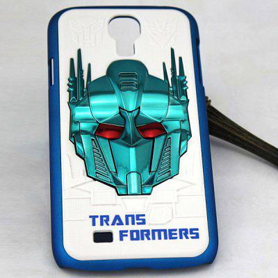 Populaire PC Back Shell Case met Transformers patroon voor Samsung Galaxy S4 i9500 / i9505 - Wit en Blauw