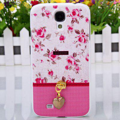 Hot Sale Plastic Shell Case with Heart-shaped Zipper Pattern for Samsung Galaxy Note2 N7100 ( Water Red )