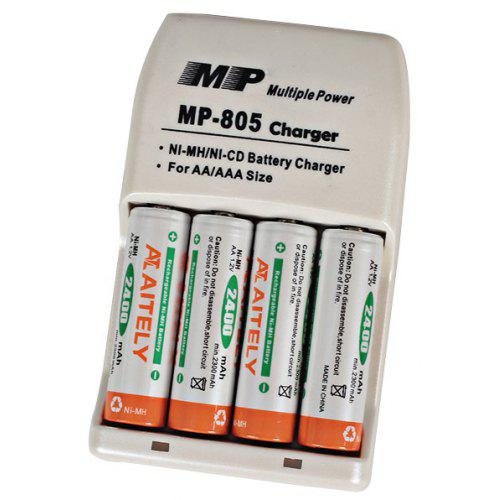 Battery Charger for AA//AAA rechargeable NiMH NiCd-USB Survival Camping Travel