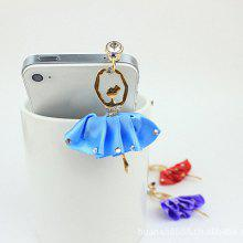 Chic Style Rhinestoned Women's Dancing Girl Shape Cellphone Dustproof Plug
