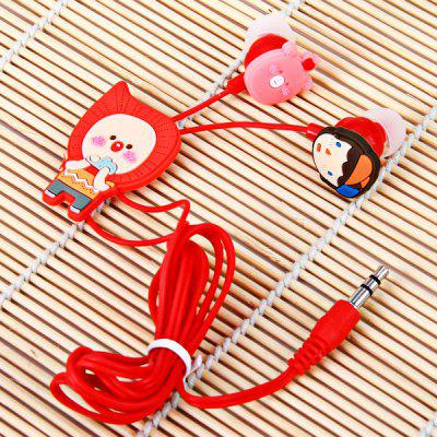 Cute Hello Geeks Series Organist Style Silicone Flexible In-ear Earphone ( Red )