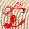 Cute Hello Geeks Series Organist Style Silicone Flexible In-ear Earphone ( Red ) - RED