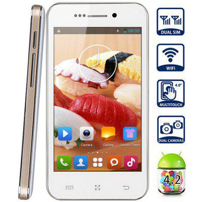Refurbished Android 4.2 F23 Unlocked Phone MTK6572 Dual Core 1.0GHz GPS with 4.0 inch WVGA Screen Dual Camera