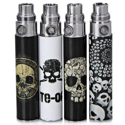 4pcs/lot Skull Head Appearance 650mAh Rechargeable Lithium Battery for Electronic Cigarette