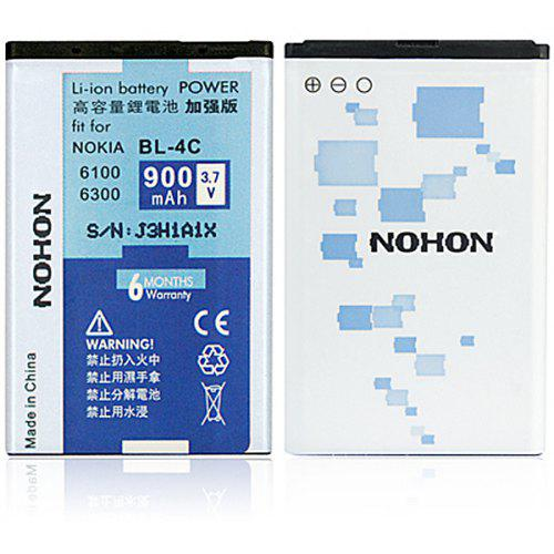 NOHON High Capacity 3 7V 900mAh Replacement Battery for Nokia 1265 1325  1661 2650 2652 3500c 5100 6100 6101 6103