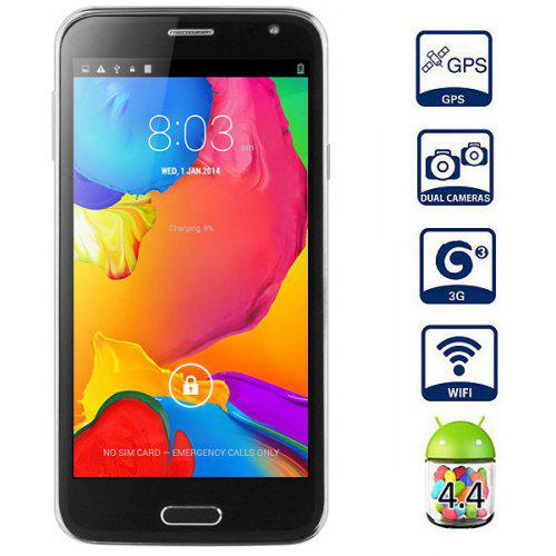 Mpie S5 Android 4 4 3G Unlocked Phone MTK6582 Quad Core 1 3GHz 1GB RAM 4GB  ROM GPS With 5 0 inch QHD Screen