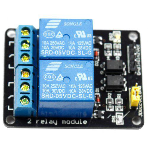 2 - Channel 5V High Level Trigger Relay Module - Arduino Compatible
