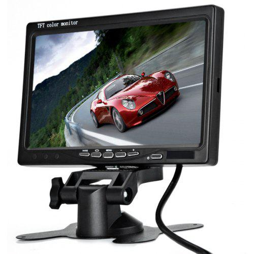 7 Inch 480/234 Pixels Two Video Input Pillow TFT LCD Color Monitor with IP66 Waterproof Resistance Wired Bus Camera Set