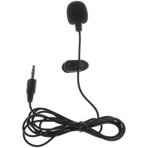 3.5mm Hands Free Iron Lavalier Lapel clip on mini microphone for PC Laptop Phone