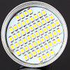 Sencart E14 4W 260Lm SMD - 3528 60 LEDs 6000 - 6500K Spot Light with Silver Housing - COOL WHITE