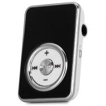 Rectangle Crystal Style SD Card Slot MP3 Player με Universal Jack Back Clip