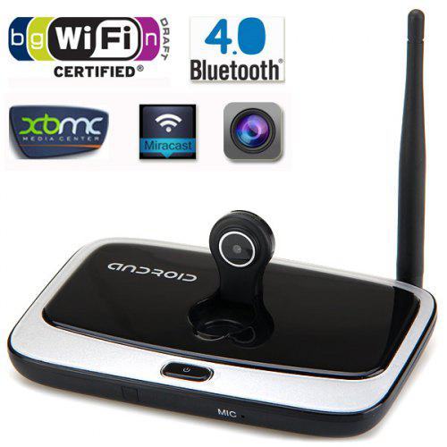 Q7S Quad Core Android 4 4 Bluetooth Full HD 1080P TV Box 2GB RAM 8GB ROM  Built - in Antenna with 2MP Camera Support Microphone XBMC DLNA Miracast