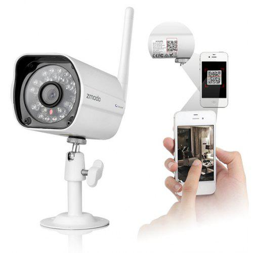 ZMODO ZP - IBH13 - W 720P WIFI Connection IP Camera with Infrared Night  Vision Waterproof 3 6mm Lens QR Code Scan