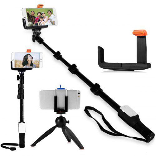 YT - 1288 Bluetooth RC Self Timer Stretch Monopod Camera Shutter with Yunteng YT - 228 Mini Tripod Mount and Clip Stand - $42.04 Free Shipping|GearBest.com