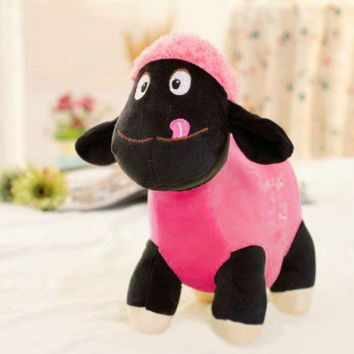 Lovely Cream Lamb Baby Sheep Soft Plush Toy with Heart - 20CM
