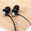 Awei S950vi 1.2m Flat Cable Design In - ear Earphone with Volume Control Mic for Android Mobile Phone with CTIA Standard - BLACK