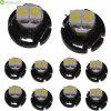 Sencart T4.2 SMD 3528 Daylight LED Car Side Marker Light Dashboard Bulb ( DC 12 - 16V 10 Pcs ) - COOL WHITE LIGHT