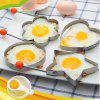4pcs Cook Fried Egg Shaper Pancake Stainless Steel Heart / Ring / Flower / Star Design Kitchen Cooking Tool Rings Mould - SILVER