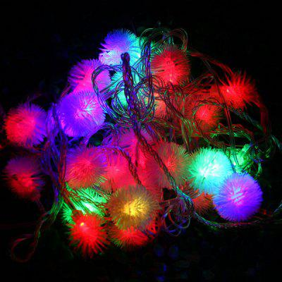 6m 28 LEDs RGB Christmas Snow Ball LED String Light Multi-color Fairy Decorative Lamp for Outdoor Garden Party Wedding
