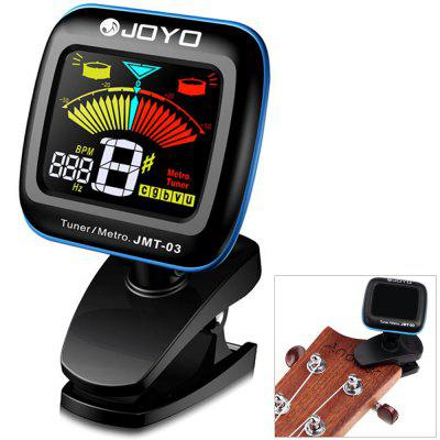 JOYO JMT - 03 360 Degrees Rotation Clip-on Color LCD Digital Guitar Tuner Metronome for Bass Ukulele