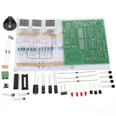 ZnDiy - BRY AT89C2051 6 Digital LED Electronic Clock Kit ( DC 6 - 12V ) for DIY