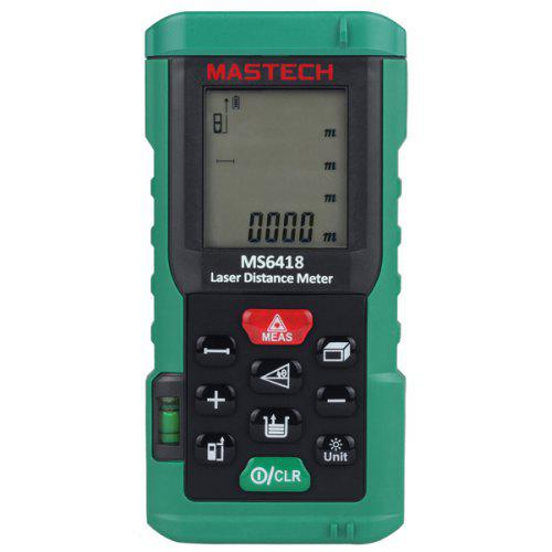 80m Laser Distance Meter Range Finder LCD Area Volume Measuring Tool Green