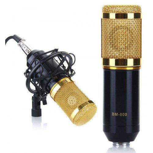 BM-800 Professional Studio Condenser Sound Recording Microphone + Plastic Shock Mount Kit for Recording