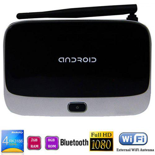 CS918 TV Box Smart Android 4 4 Google TV Player 1GB 8GB Quad Core RK3188  WiFi Bluetooth HDMI Connectivity