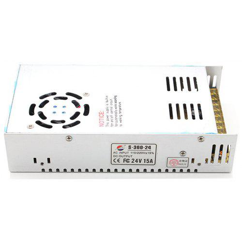 S-360-24 360W 24V / 15A Switch Power Supply Driver for LED Light and Surveillance Security Camera ( 110/220V )