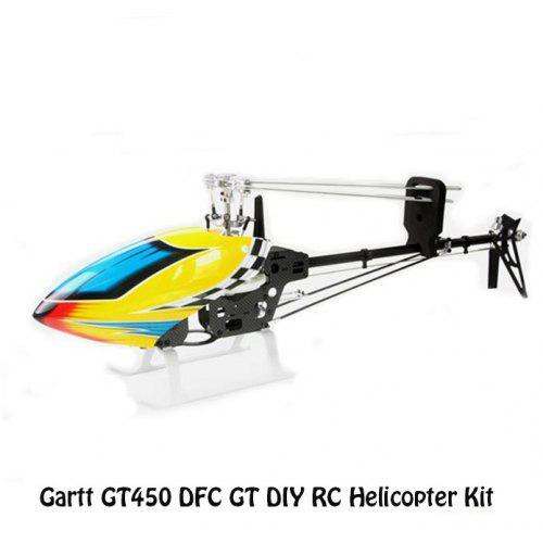 Gartt GT450 DFC GT RC Helicopter Set DIY Belt Version Copter with Canopy  and Fiber Glass Blade
