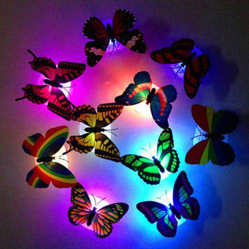 10 Pcs Wall Stickers Butterfly LED Lights Wall Stickers 3D For Kids Watching UK