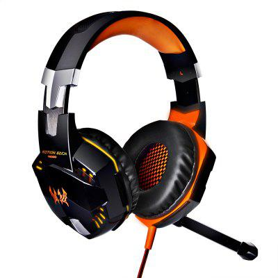 EACH G2000 Gaming Headset Stereo Sound 2.2m Wired Headphone Noise Reduction with Microphone for PC Game.