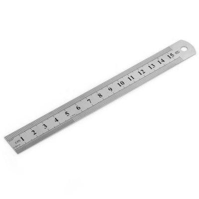 15CM Stainless Steel Straight Ruler High Precision Writing Material for Student Engineer Office