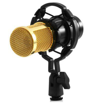 BM - 800 Condenser Sound Recording Microphone with Shock Mount for Radio Braodcasting