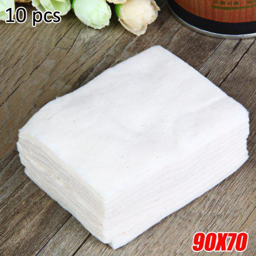 10 Pieces / Pack 90 x 70mm Organic Cotton for E - Cigarette Atomizer Wicking