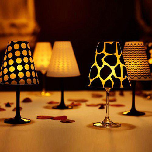 Plastic Wine Glass Lamp Shades 6 Pieces Elegant Romantic Light Cover