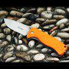 GANZO G722 - GR Small Line Locking Foldable Knife with Stainless Steel Blade - ORANGE