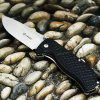 GANZO G722 - GR Small Line Locking Foldable Knife with Stainless Steel Blade - BLACK