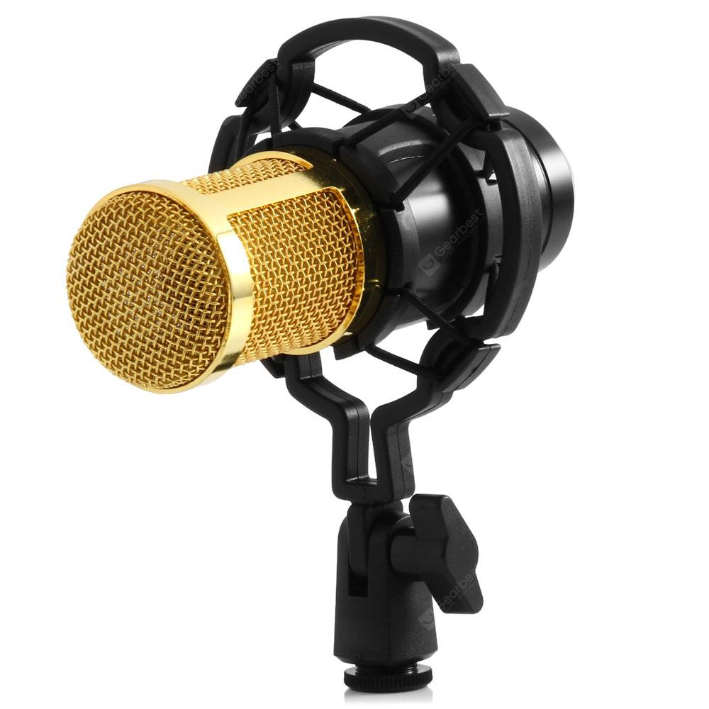 BM - 800 Condenser Sound Recording Microphone with Shock Mount for Radio Braodcasting | Gearbest