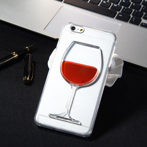 the latest 42ba2 35174 3D Liquid Flow Red Wine Glass Cover Case for iPhone 6 Plus 6S Plus
