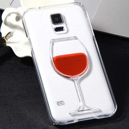 reputable site ab74d dc691 3D Liquid Flow Red Wine Glass Cover Case for Samsung Galaxy S5