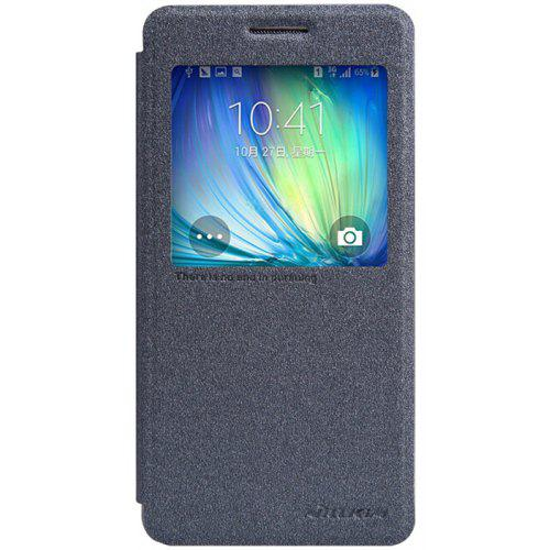 Nillkin View Window Design Phone Protective Cover Case with PU Leather and PC Material for Samsung