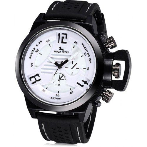 a8d3a875f5d FORZA SPORT 2497 Men Japan Movt Quartz Watch with Silicone Strap ...