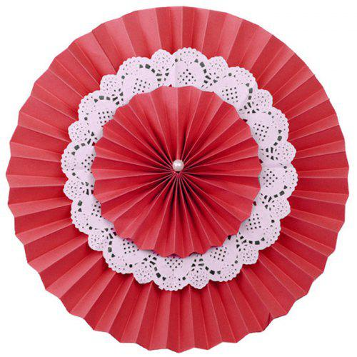 14 inch Three Layer Colorful DIY Paper Fan