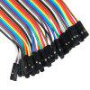 40PCS DuPont Male to Female Breadboard Jumper Wire - COLORFUL