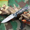 Ganzo G727M - CA Folding Knife with Axis Lock and Clip - CAMOUFLAGE
