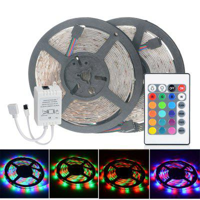 2pcs HML 5m 24W 300 SMD 2835 RGB LED Strip Light