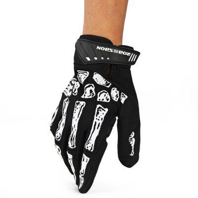 Robesbon Full Finger Cycling Bicycle Gloves Skull
