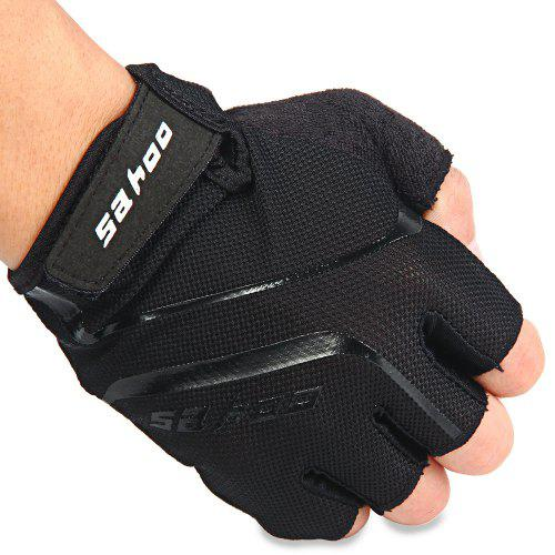New Black Motorcycle Bike Bicycle Riding Cycling Half Finger Gloves Size M-XL
